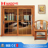Low Price Wood Grain Aluminium Sliding Door