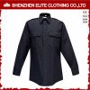 Custom Made Police Work Shirt Black Security Uniforms (ELTHVJ-310)