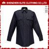 Custom Made Police Work Shirt Black Security Uniforms (ELTHVJ-310)