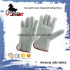 Gray Cowhide Split Leather Industrial Safety Driver Work Glove