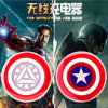 Avengers Captain American Qi Standard Wireless Charger Pad for Samsung Galaxy S7 S6 Wireless Charging Pad