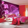 Custom Free Design Easy Insulation Premium Self Adhesive Wallpaper Printing