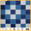 Swimming Pool Blue/White Mosaic Glass Mosaic Wall Tile