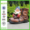 New Arrival Polyresin Gnome with Shoe Urn (NF14129-1)
