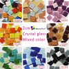 20mm Mixed Color Square Crystal Glass Mosaic Tile, DIY Craft Hobby for Kids 2 Cm Red Blue Green ...