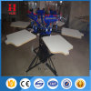 Manual 6 Color 6 Station Garment Silk Screen Printing Equipment