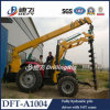 Tractor Portable Pole Erection Machine with Crane