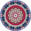 Mandala Print Natural Rubber Round Yoga Mat