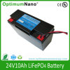 24V 10ah Lithium-Ion Battery for Electric Motorcycle, UPS, Energy Storage