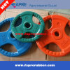 Tri-Grip Olympic Colorful Rubber Roated Weight Plates