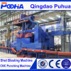 2017 Hot Sale Roller Conveyor Steel Pipe Surface Shot Blasting Cleaning Machine (QGW)