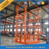 Warehouse Used Guide Rail Hydraulic Cargo Lifting Table