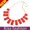 2014 Factory Diretly Wholesale Fashion Orange Square Necklace Fashion Charm Statement Jewelry (EN0035C)