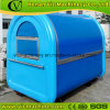 manufacture recommended blue food cart with CE certification
