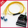 Fiber Optic Assembly 12F MPO To LC Breakout Cable 40 Gig With Cassette