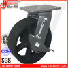 "4""X2"" Swivel with Side Brake Industry Cast Iron Caster Wheel"