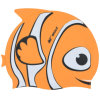Fish Shape Colorful Children Swimming Pool Caps