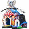 Circus Theme Inflatable Combo House with 3D Elephant