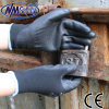 Nmsafety Black Nylon PU Palm Coated Gloves