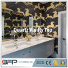 White Natural Stone Quartz Vanity Tops for Bathrooms, Hotel