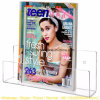 Modern Clear Acrylic Wall Mounted Magazine & Brochure Display Rack