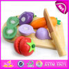 Pretend Play Toy Wooden Cutting Vegetable Toy, Vegetable Set Wholesale Wooden Cutting Kids Toy W10b132