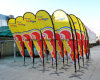 Prtable Advertising Flag, display Stand Beach Flags