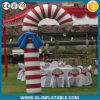 Cusomized Christmas Event / Party Decoration Lighting Inflatable Candy Cane for Sale