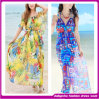 Hot Sexy Women Slim Design Floral Fashion Long Summer Beach Dress