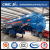 Cimc Huajun 37cbm 5compartments 3axle Fuel/Gasoline/Oil/LPG Tanker with 5 Manholes