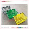 Double Handles Portable Plastic Shopping Basket for Supermarket (OW-BP001)