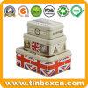 Rectangular Metal Storage Tin Box Set for Gift Packaging