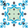 300*300mm Arabic blue Artisitic Decortion Ceramic Tile
