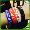Factory Direct Color Filled Silicone Bracelet with Debossed Logo