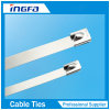 Silver Stainless Steel Cable Ties for Cable and Pipe 4.6X450mm