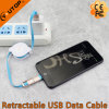 2 in 1 Retractable Data and Charge USB Cable for iPhone, Android and iPad