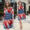 Summer A-Line Women Chiffon Abaya/Kimono/Kaftan with Floral (A983)
