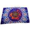 Blue Polyester Chiffon Print Scarf Chinese Style