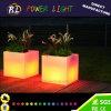 Color-Changing Garden Decor LED Plastic Square Flower Pot