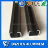 6063 Alloy Guide Track Rail Aluminum Extrusion Profile with Anodized