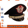 Military Officer Peak Cap with Wool