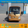 Zhongyi 14 Seater Electric Golden Sightseeing Car with Rear Seat