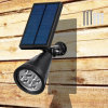 Solar Wall Lights / in-Ground Lights, 180° Angle Adjustable and Waterproof 4 LED Solar Outdoor Lighting, Spotlights, Security Lighting, Path Lights