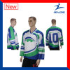 Healong Good Design Sportswear Sublimation College League Ice Hockey Shirts