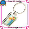 Metal Blank Silver Key Ring with Dome Printing Logo