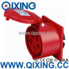 Cee IP44 32A 5p Red Flush Mouted Socket