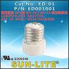 E26 to GU10/Gz10 Halogen Porcelain Lampholder, Adapter; ED-01