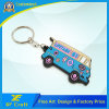 Wholesale Manufacturer PVC Soft Bus Key Ring Holder with Low Price (XF-KC-P11)