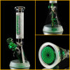 Hfy Glass Glass Smoking Water Pipe in Stock 10 Inches Sandblasted 7mm Beaker Illadelph