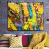 Yellow Abstract Art Painting for Home